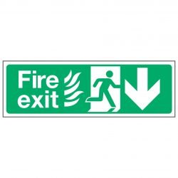Fire exit / Running Man Right / Arrow Down - NHS