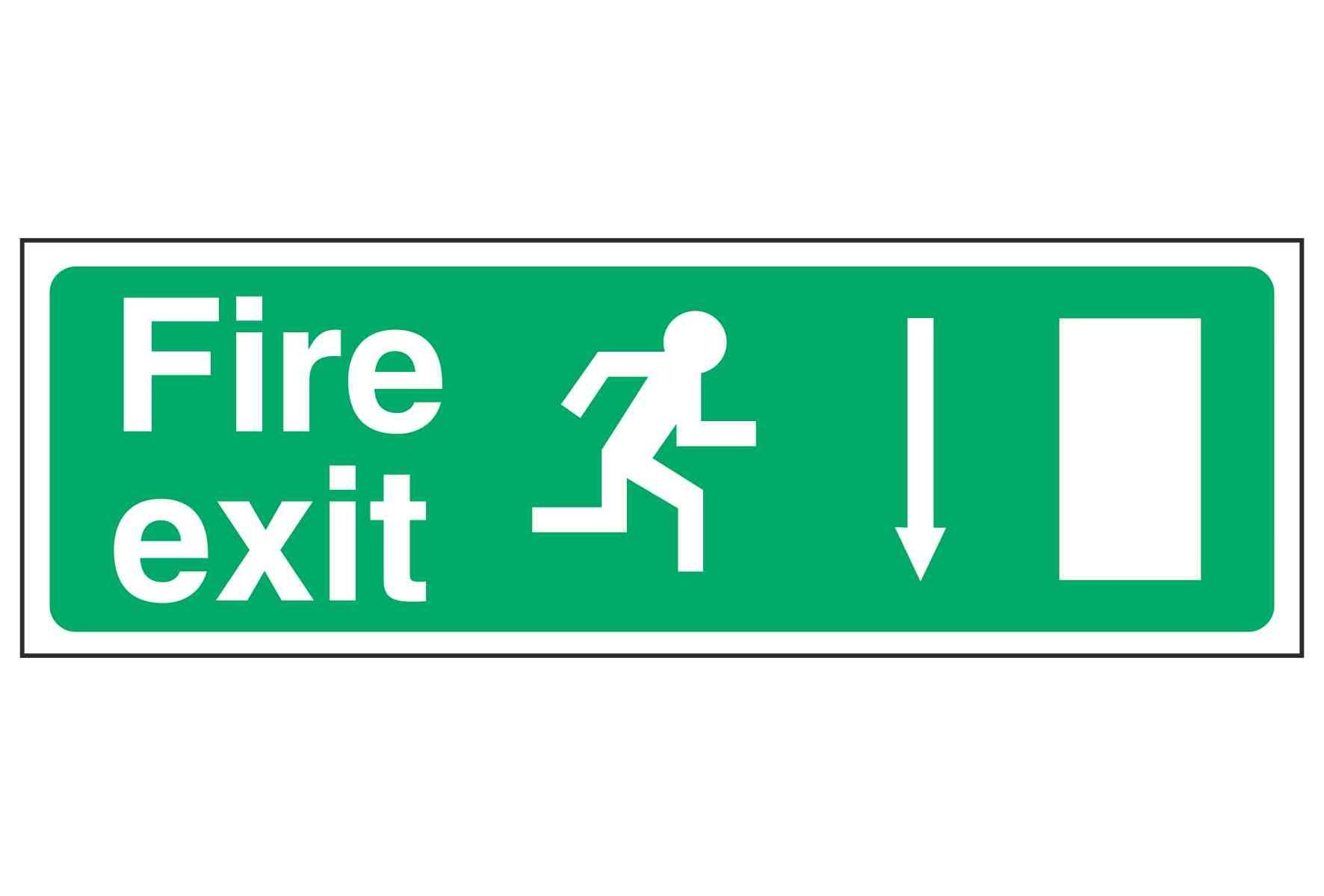 Fire exit / Running Man Right / Arrow Down - EEC 92/58