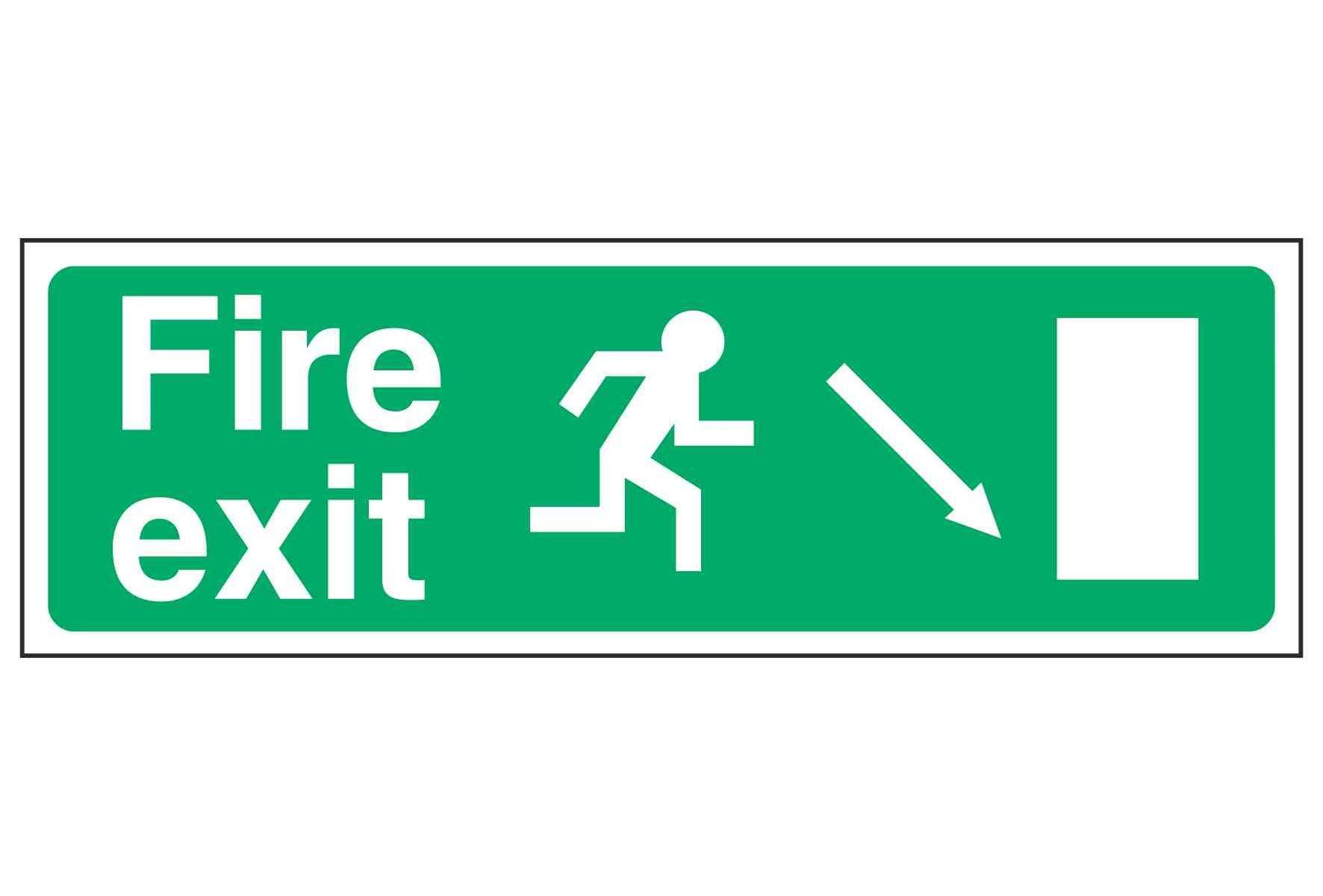 Fire exit / Running Man Right / Arrow Down Right - EEC 92/58
