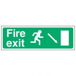 Fire exit / Running Man Right / Arrow Down Right - EEC 92/58