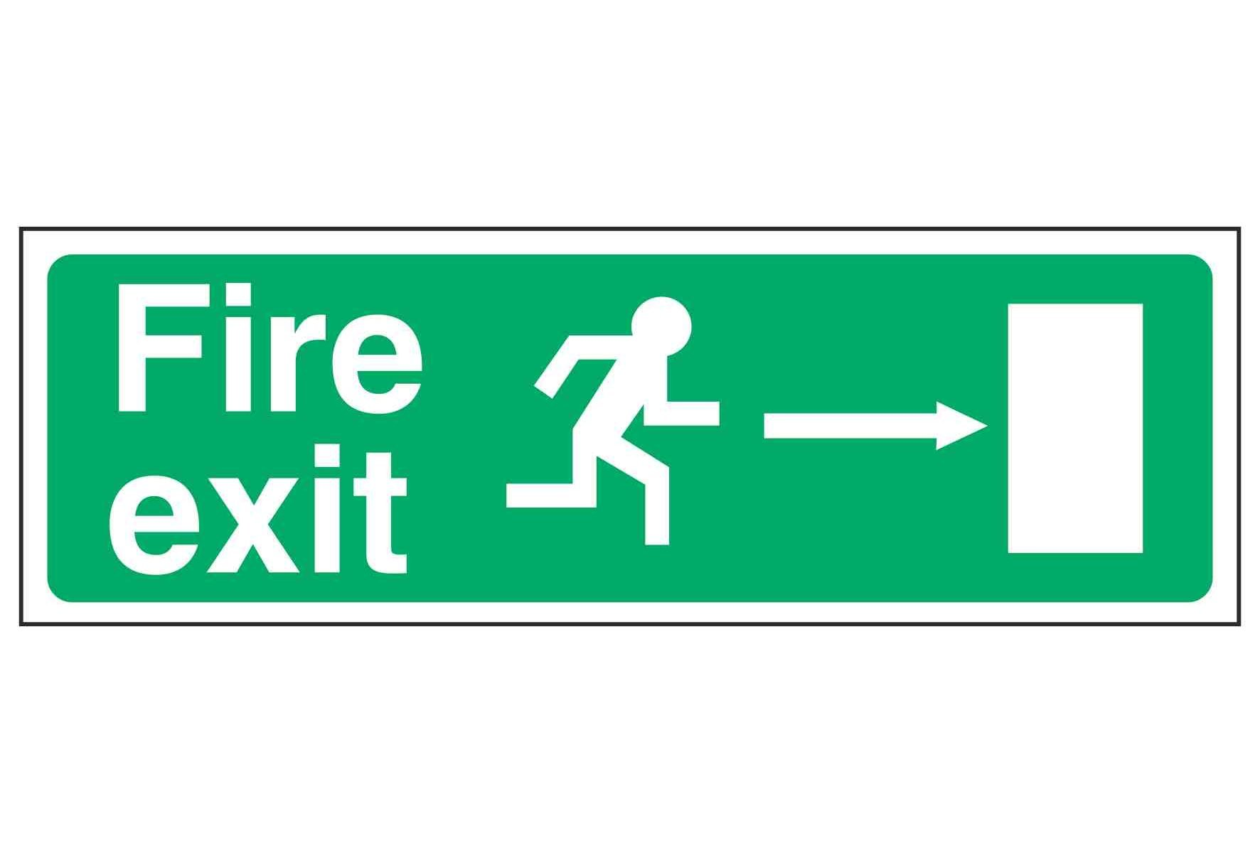 Fire exit / Running Man Right / Arrow Right - EEC 92/58