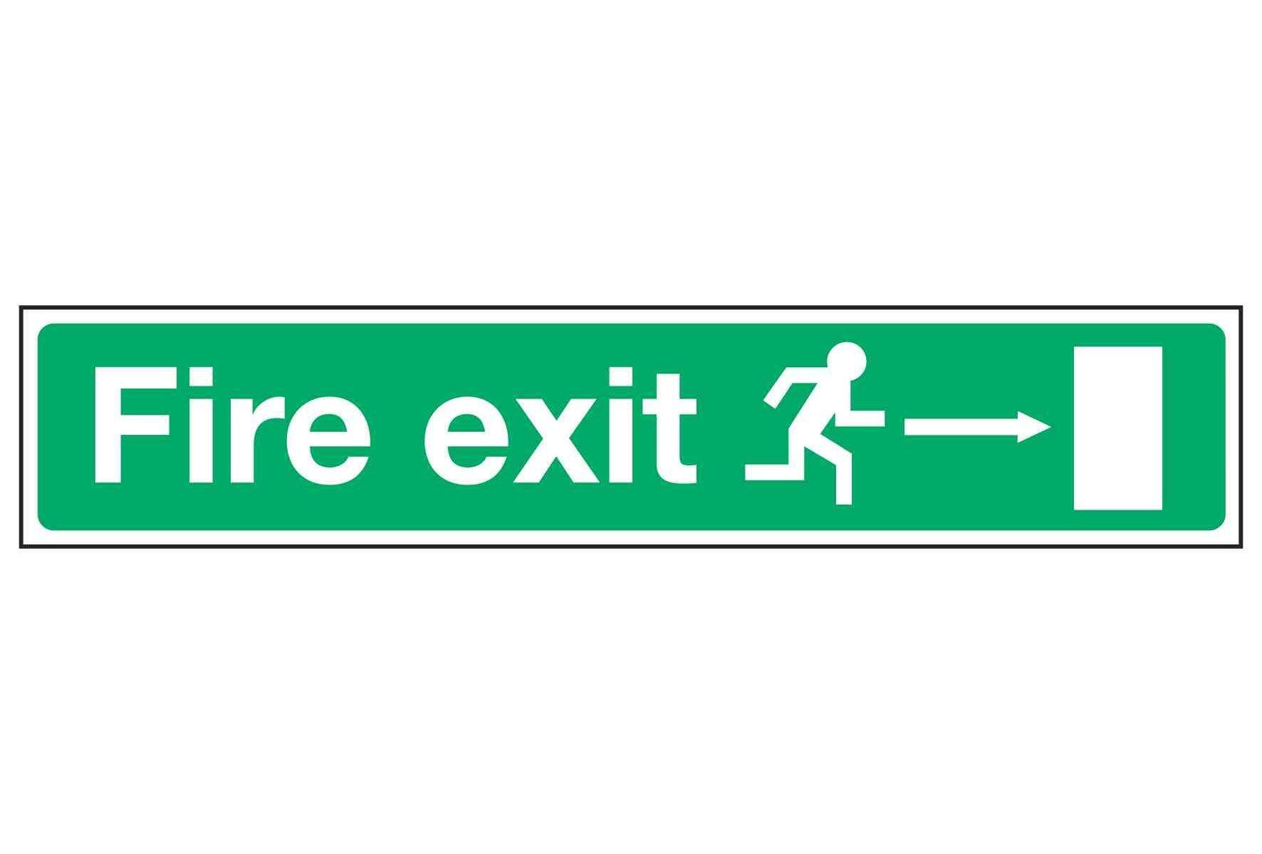 Fire exit / Running Man Right / Arrow Right - EEC 92/58