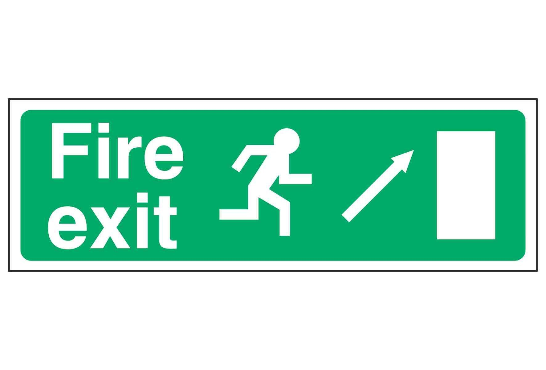 Fire exit / Running Man Right / Arrow Up Right - EEC 92/58