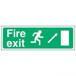 Fire exit / Running Man Right / Arrow Up Right - EEC 92/58