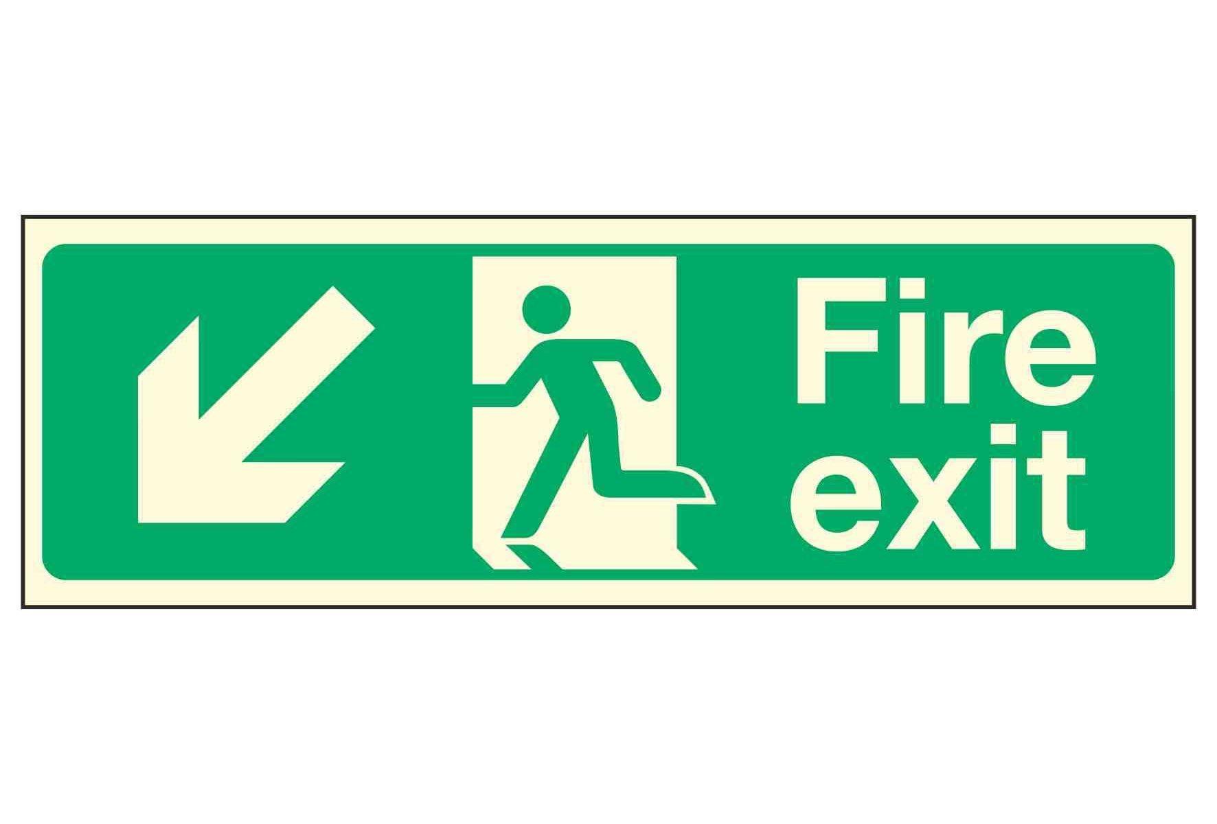 Fire Exit Down Left PL