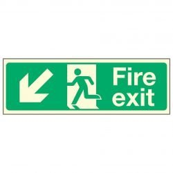 Fire Exit Down Left PL