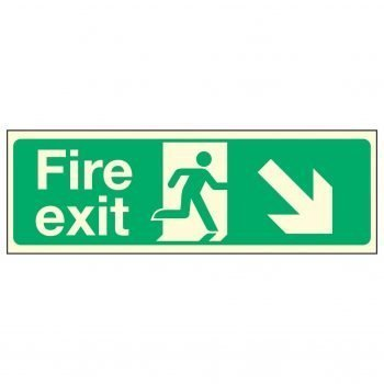 Fire Exit Down Right PL