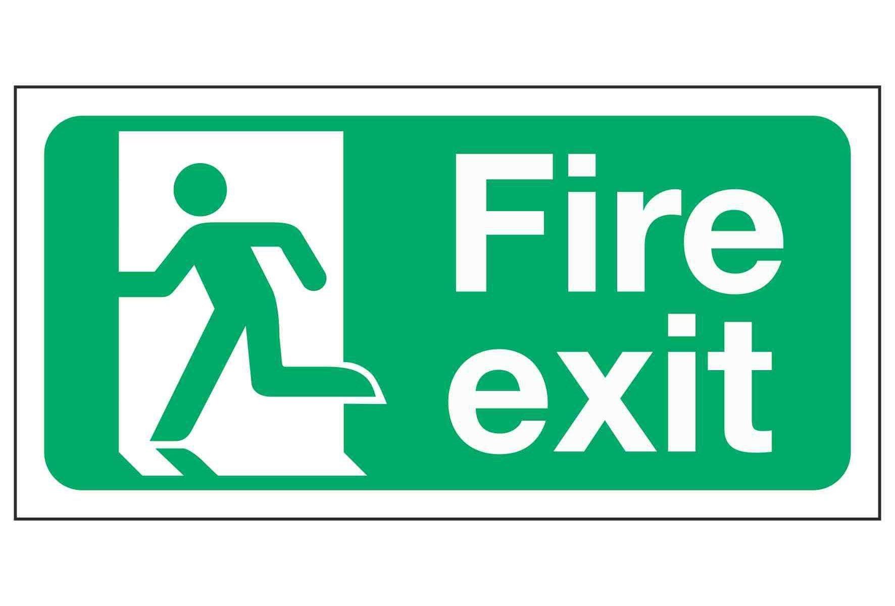 Fire Exit Man Left