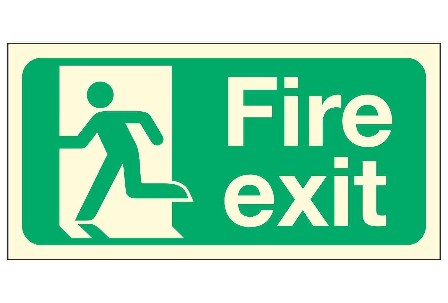 Fire Exit Man Left PL