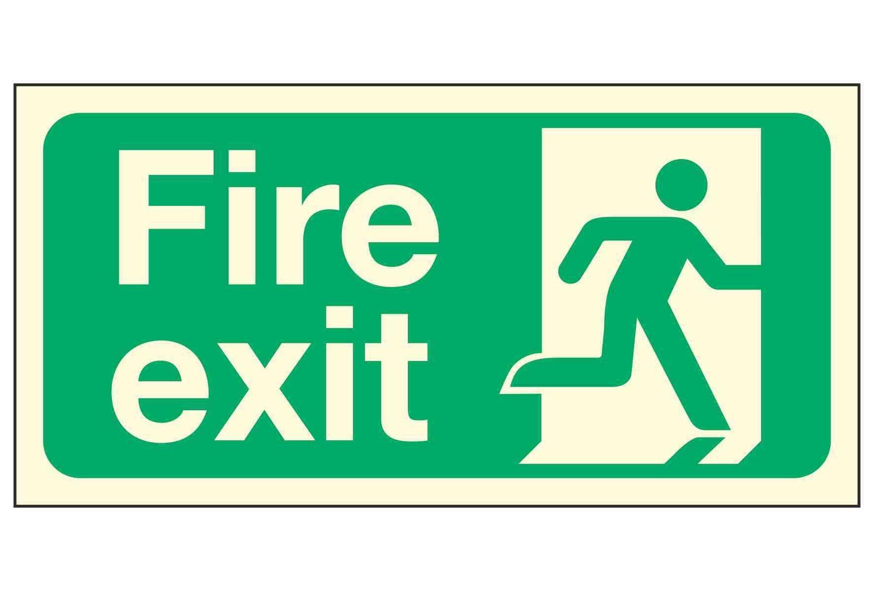 Fire Exit Man Right PL