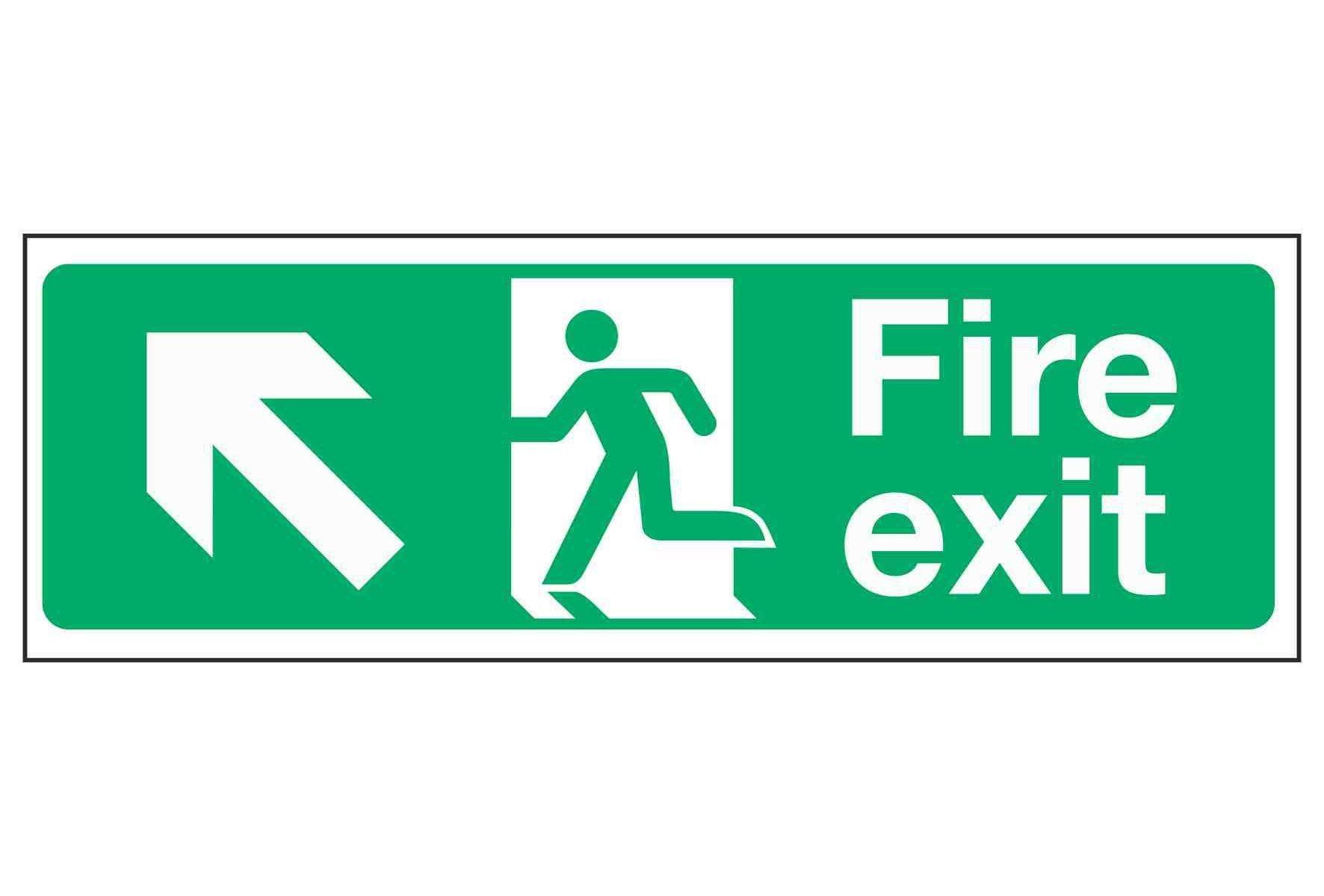 Fire Exit Up Left
