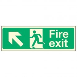 Fire Exit Up Left PL