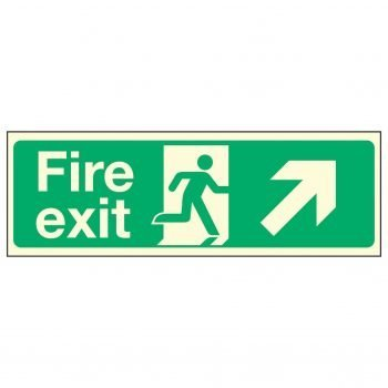 Fire Exit Up Right PL