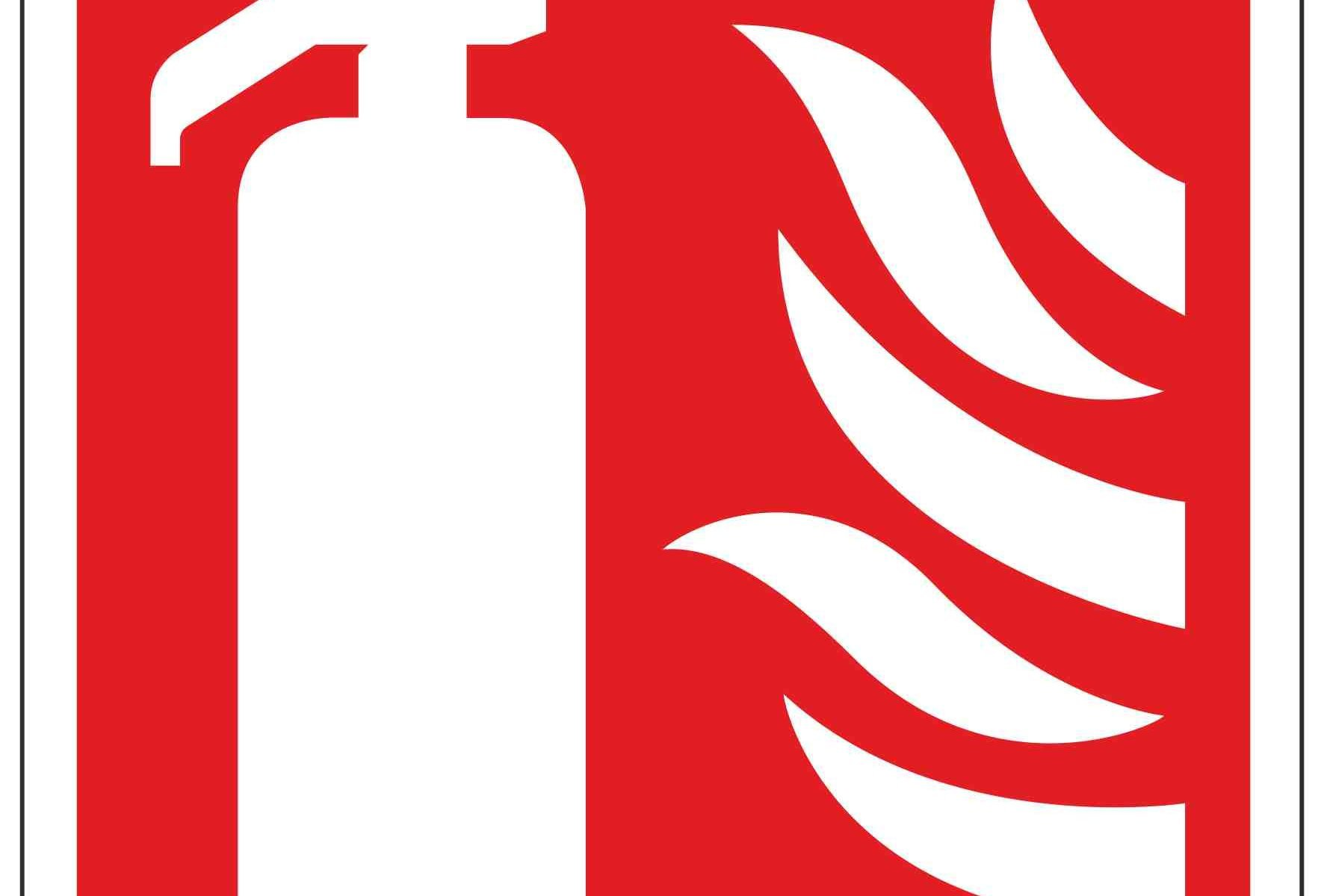 Fire Extinguisher Symbol Linden Signs Print