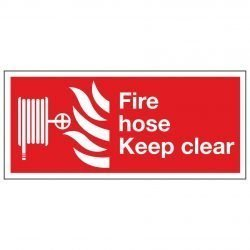 Fire hose Keep clear