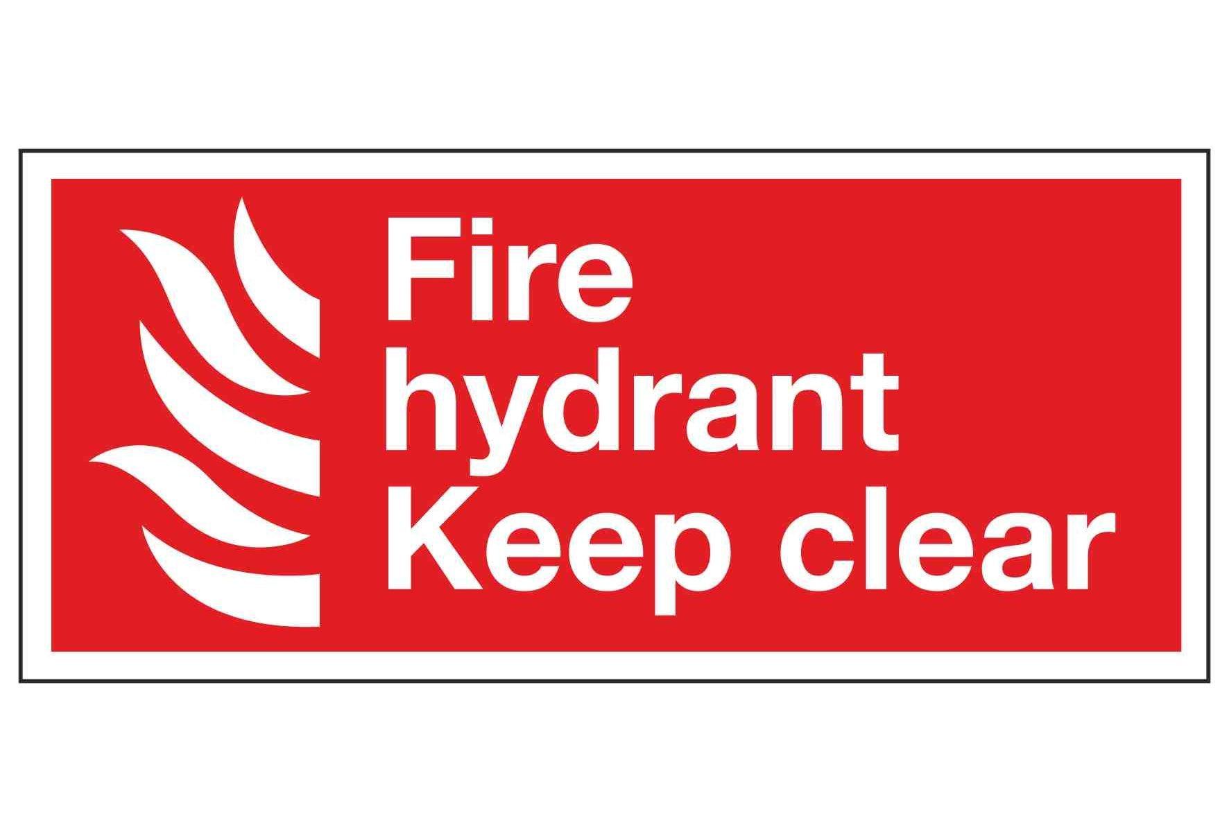 Fire hydrant Keep clear