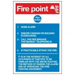 Fire point / Fire action / Portable Buildings / Caravan Sites