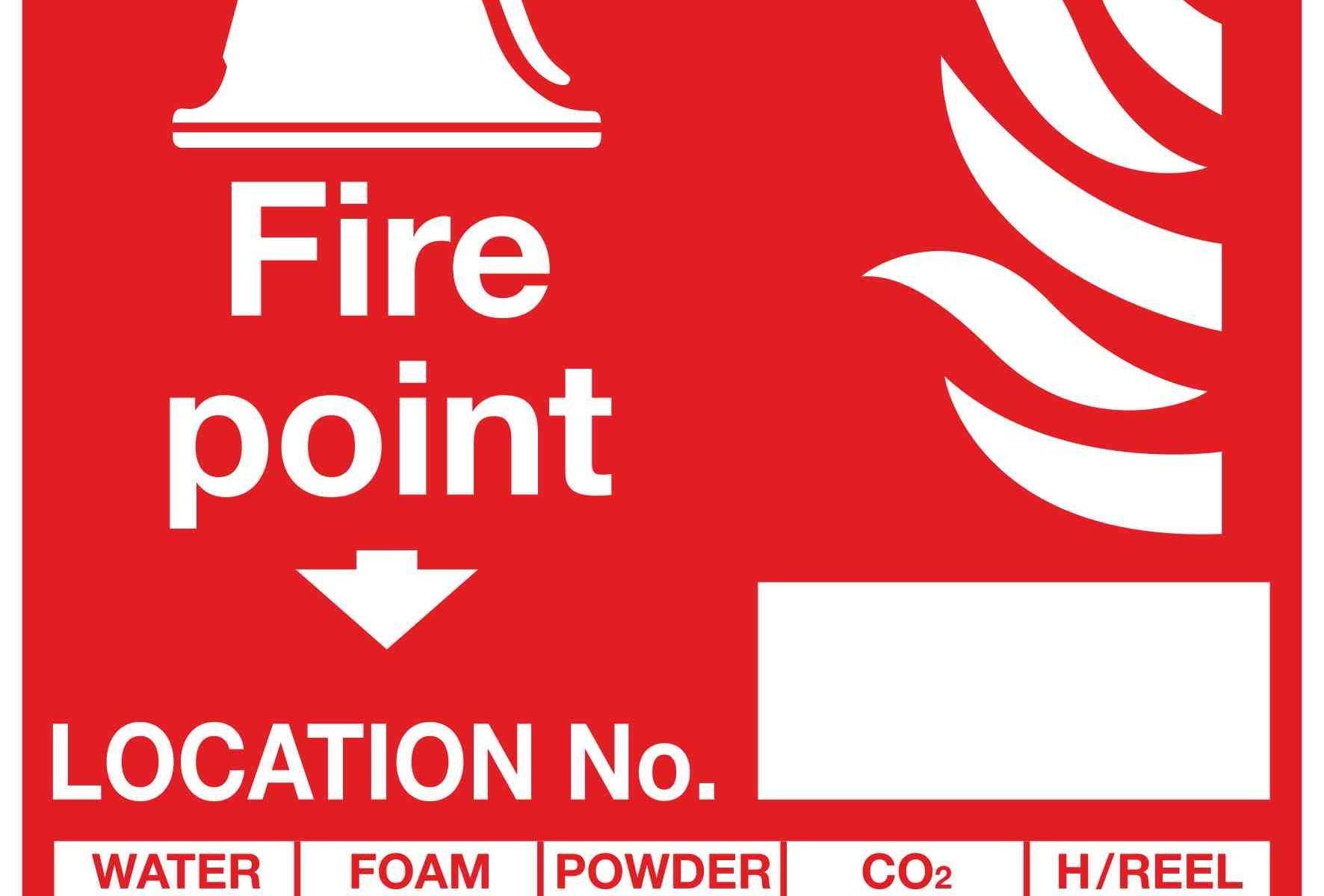 Fire point Location No. WATER FOAM POWDER CO2 H/REEL