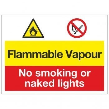 Flammable Vapour / No smoking or naked lights