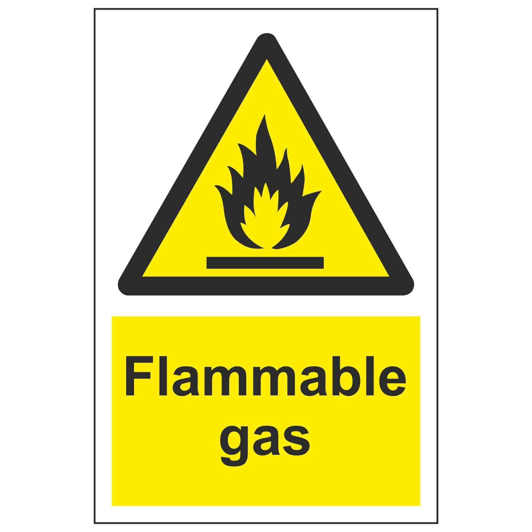 Flammable gas – Linden Signs & Print