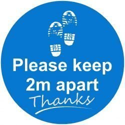 Please keep 2m apart Floor graphic