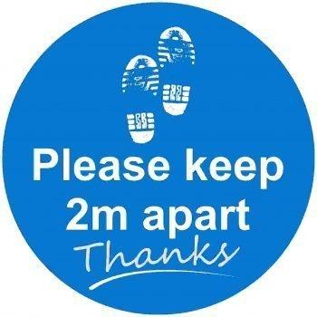 Please keep 2m apart Floor graphic