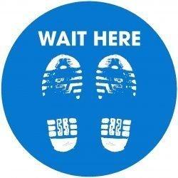 Wait here Floor graphic