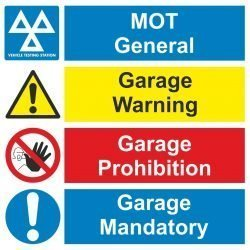 Garage & MOT Hazard Signs