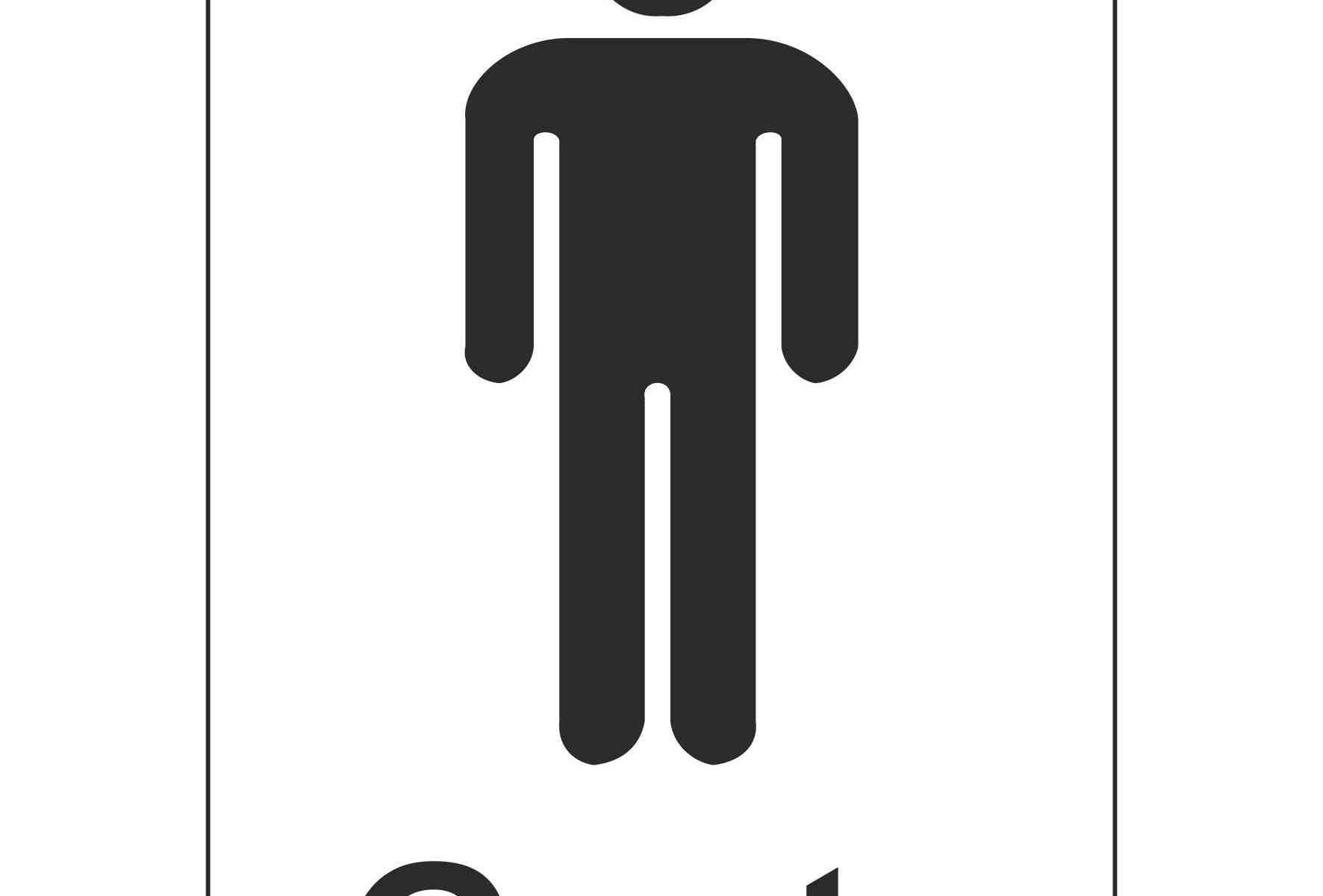 Gents Toilet (Sticker)