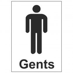 Gents Toilet (Sticker)