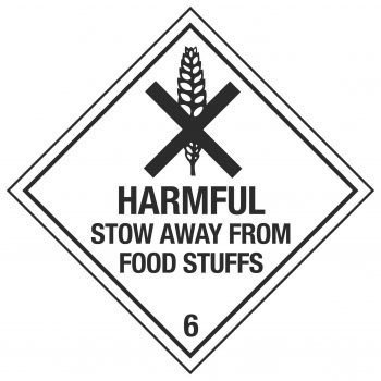 HARMFUL STOW AWAY FROM FOOD STUFFS 6