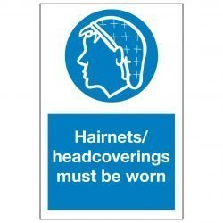 Hairnets / headcoverings must be worn