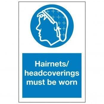 Hairnets / headcoverings must be worn