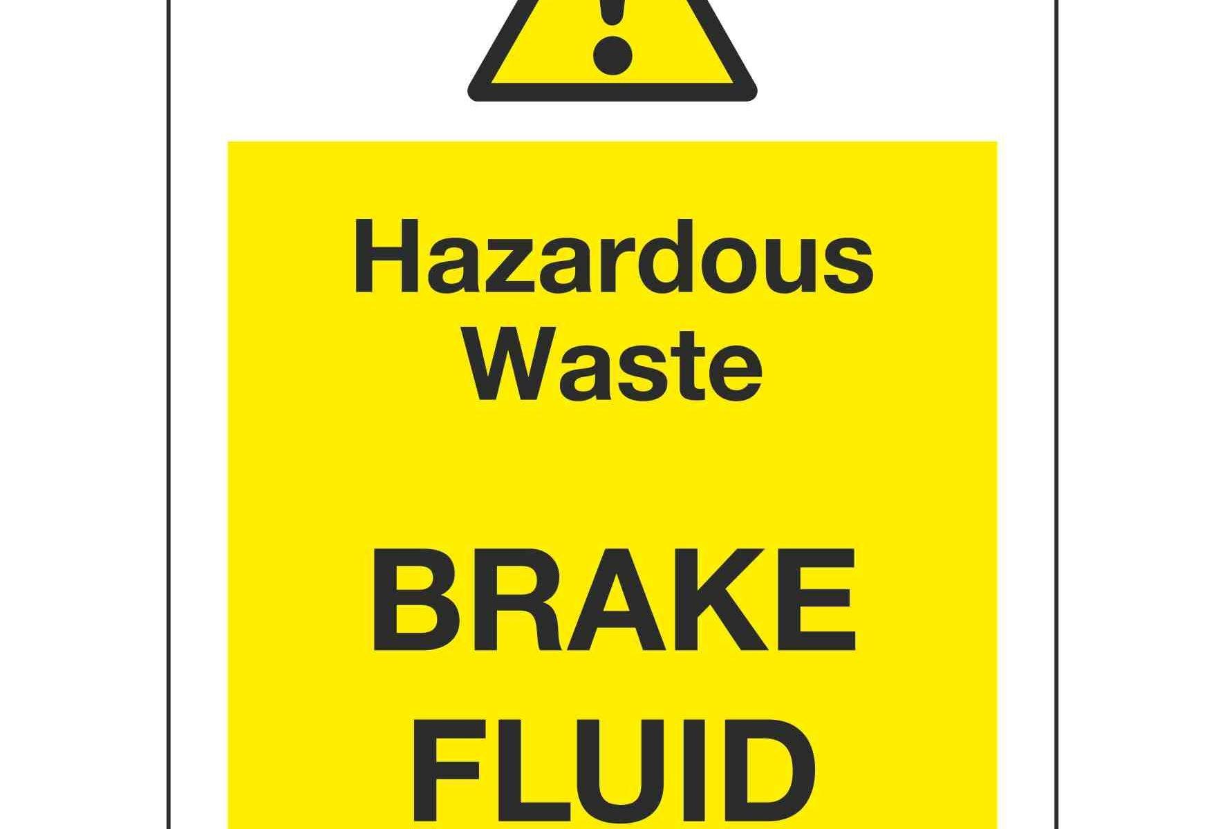 Hazardous Waste BRAKE FLUID
