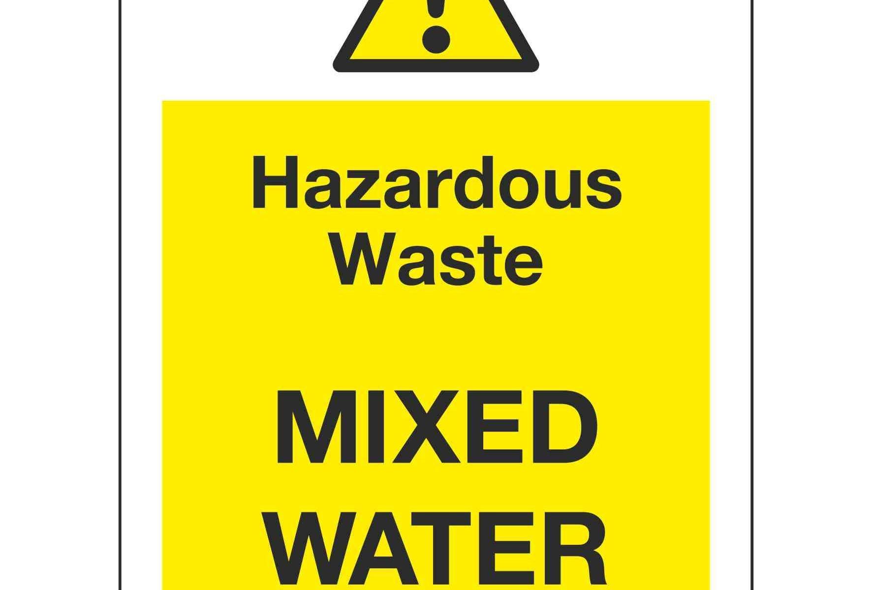 Hazardous Waste MIXED WATER