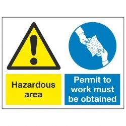 Hazardous area / Permit to work must be obtained