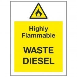 Highly Flammable WASTE DIESEL