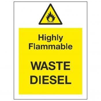 Highly Flammable WASTE DIESEL