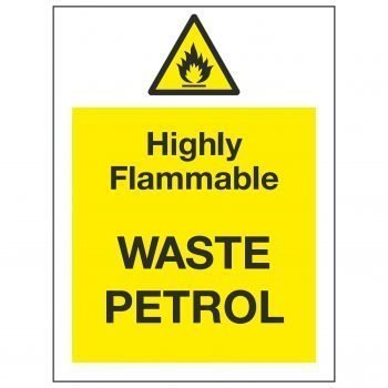 Highly Flammable WASTE PETROL