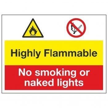 Highly Flammable / No smoking or naked lights