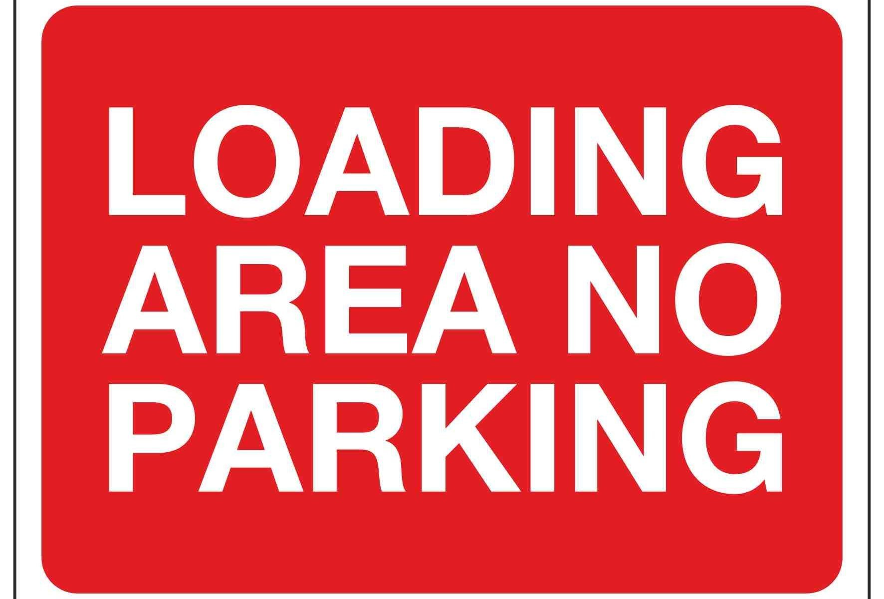 LOADING AREA NO PARKING