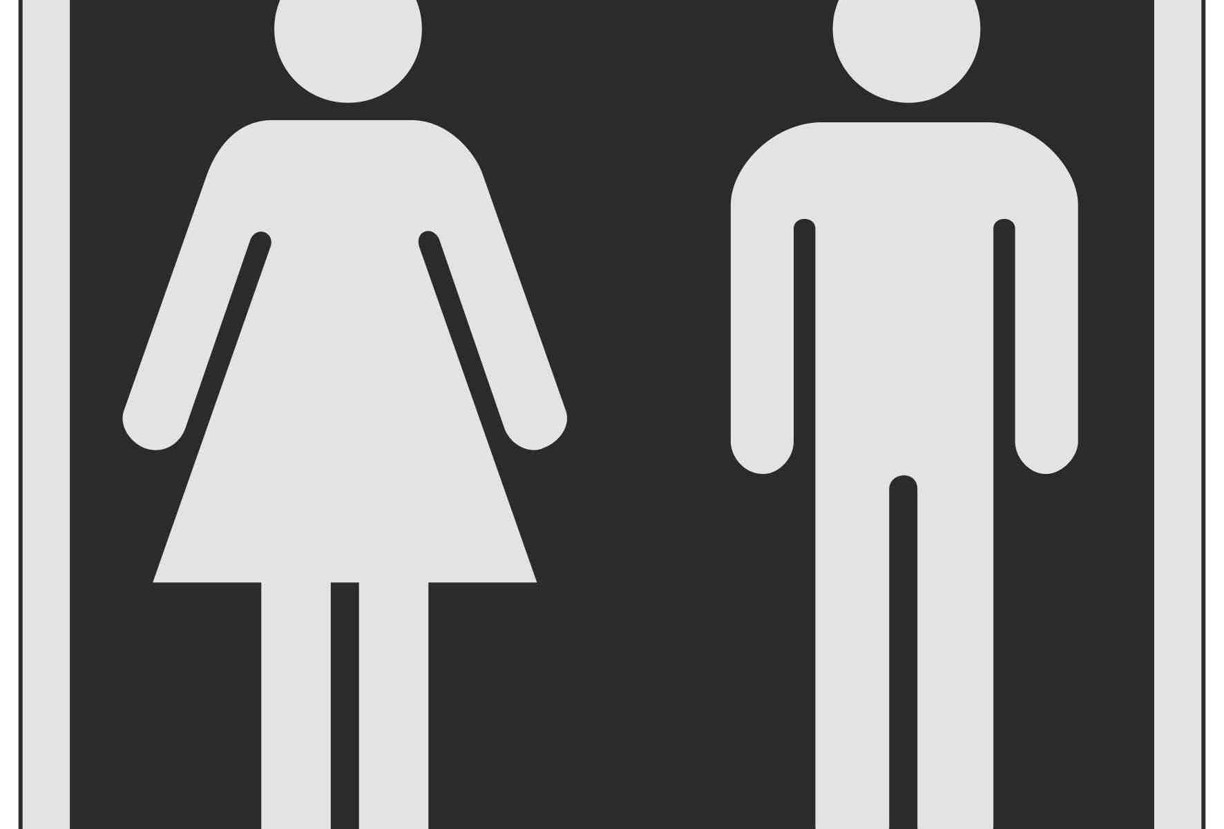 Ladies Gents Symbols Toilet