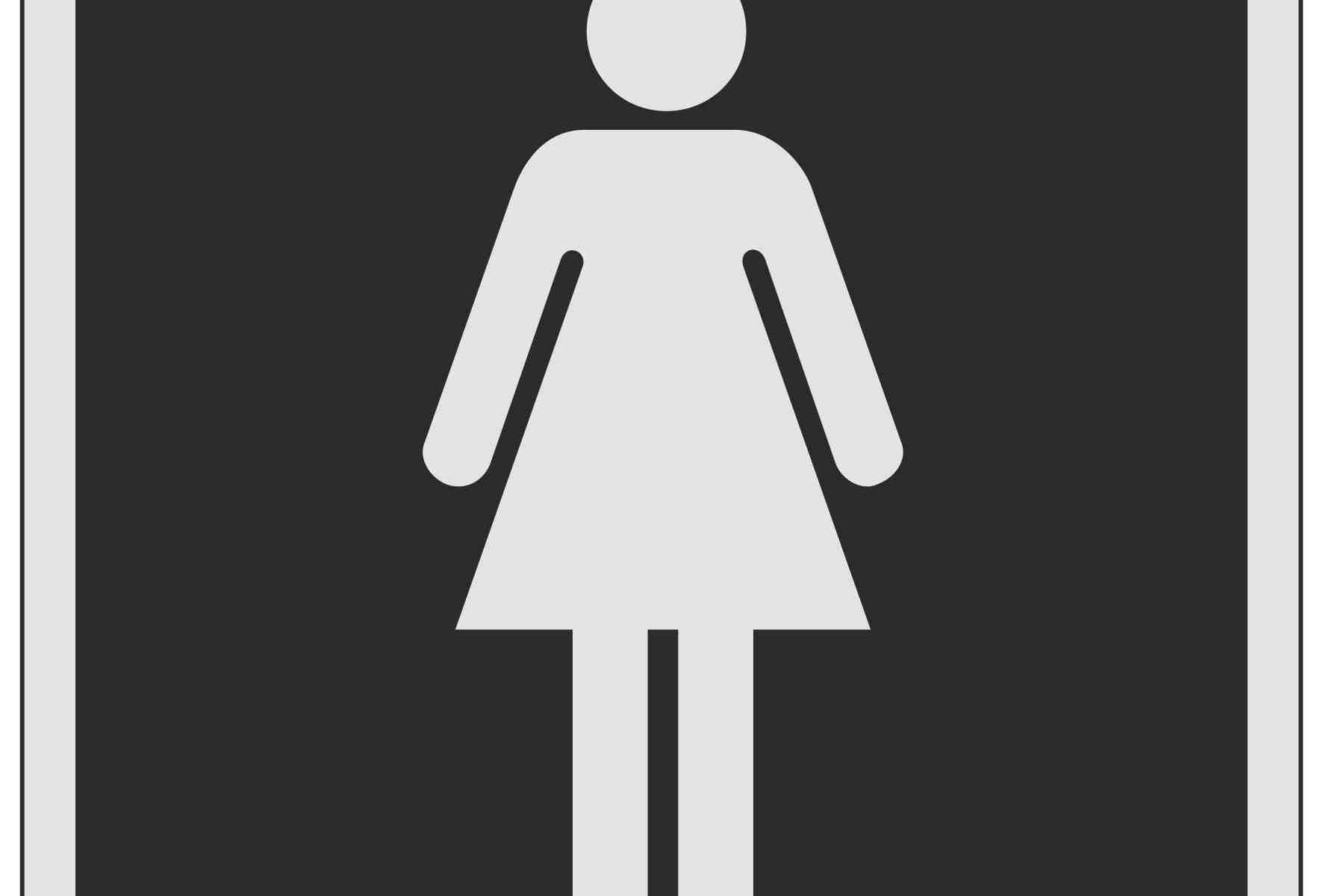 Ladies Symbol Toilet
