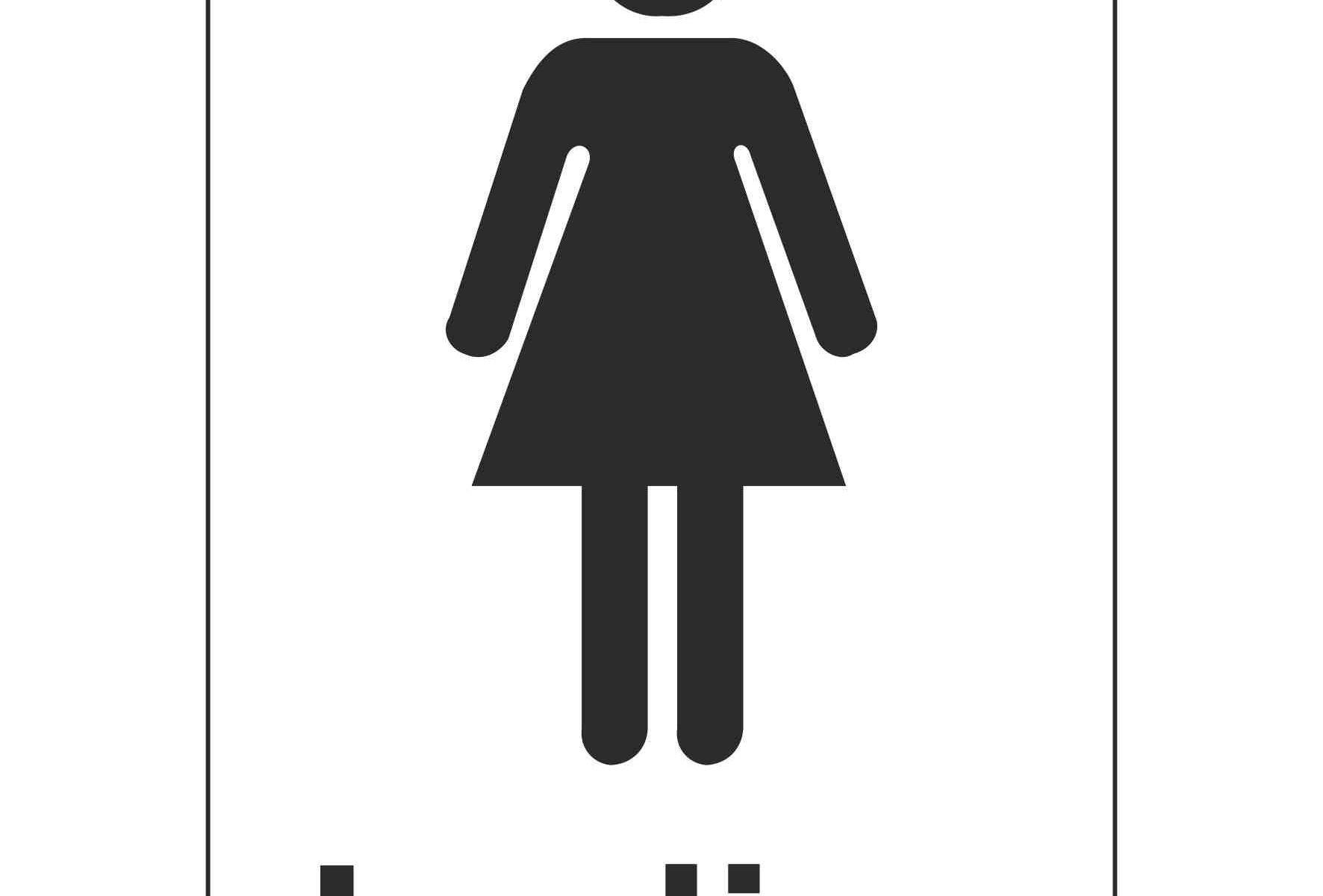 Ladies Toilet (Sticker)