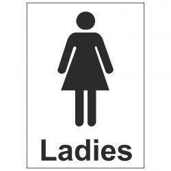 Ladies Toilet (Sticker)