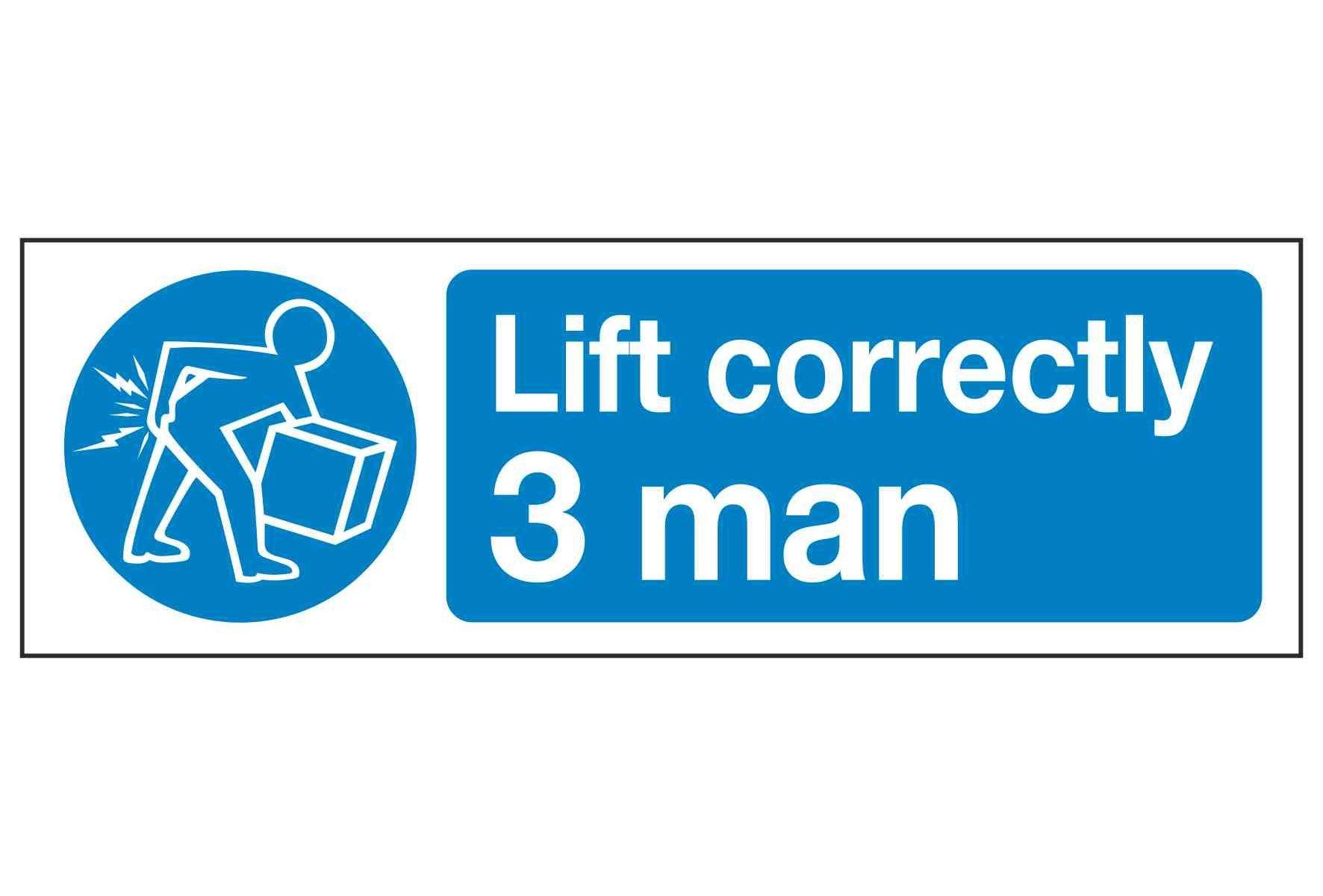 Lift correctly 3 man