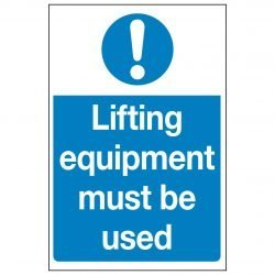 Lifting equipment must be used