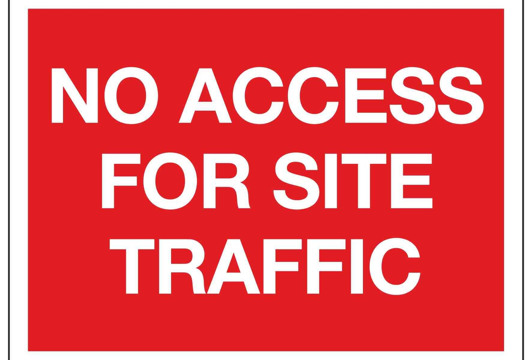 NO ACCESS FOR SITE TRAFFIC