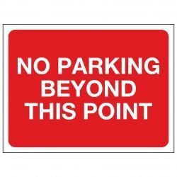 NO PARKING BEYOND THIS POINT