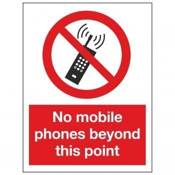 No mobile phones beyond this point